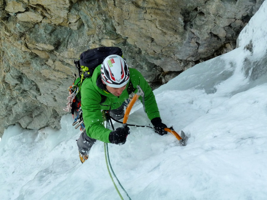Ice Climbing on the Arolla Tunnel routes