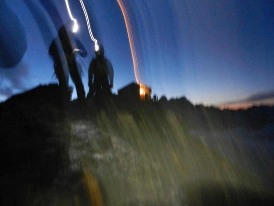 Dawn on the Eiger Mittelegi (pic Andy Perkins)