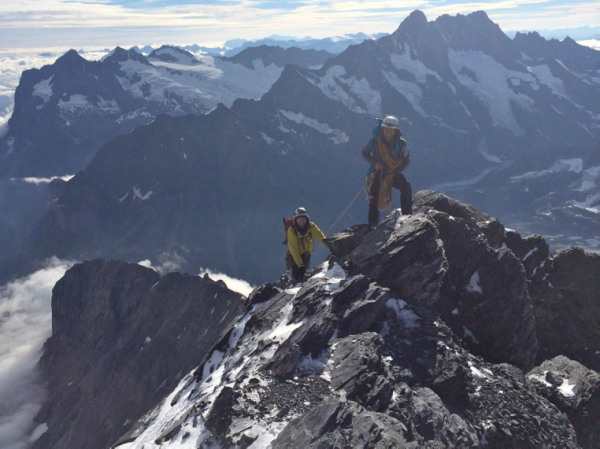 Eiger technical guided climbing