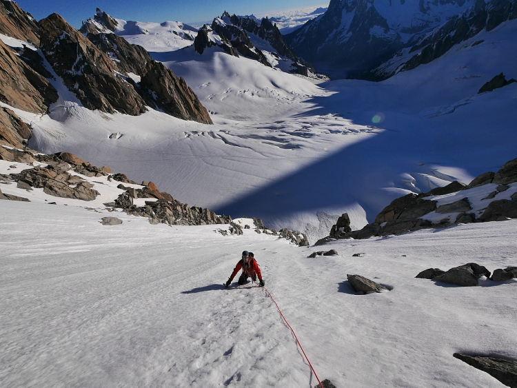 Climbing the Tour Ronde North Face