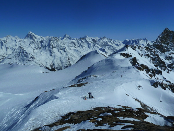 Pointe du Vouasson Guided Ski Touring Arolla