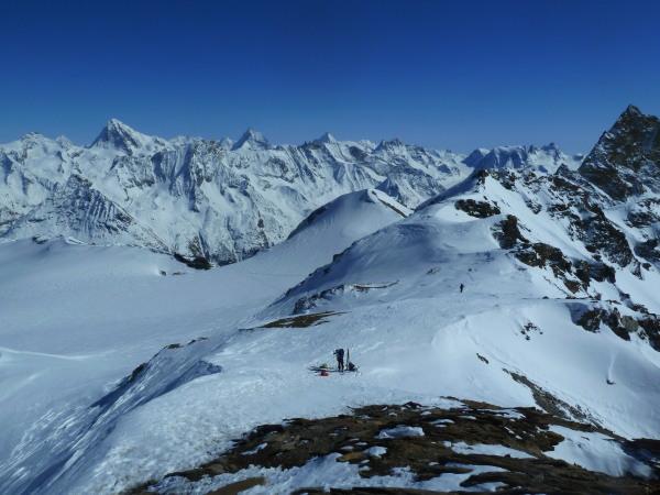 Pointe du Vouasson Guided Ski Touring Arolla