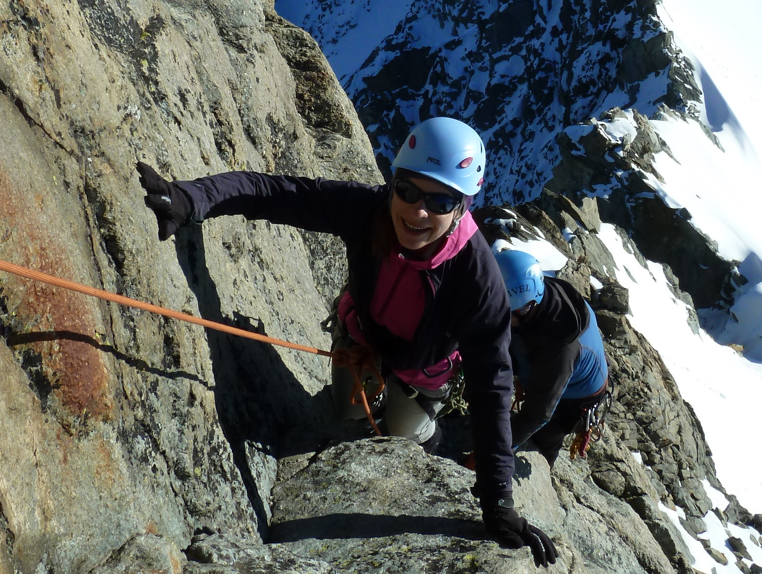 Climbers enjoying the Alpine Progression week