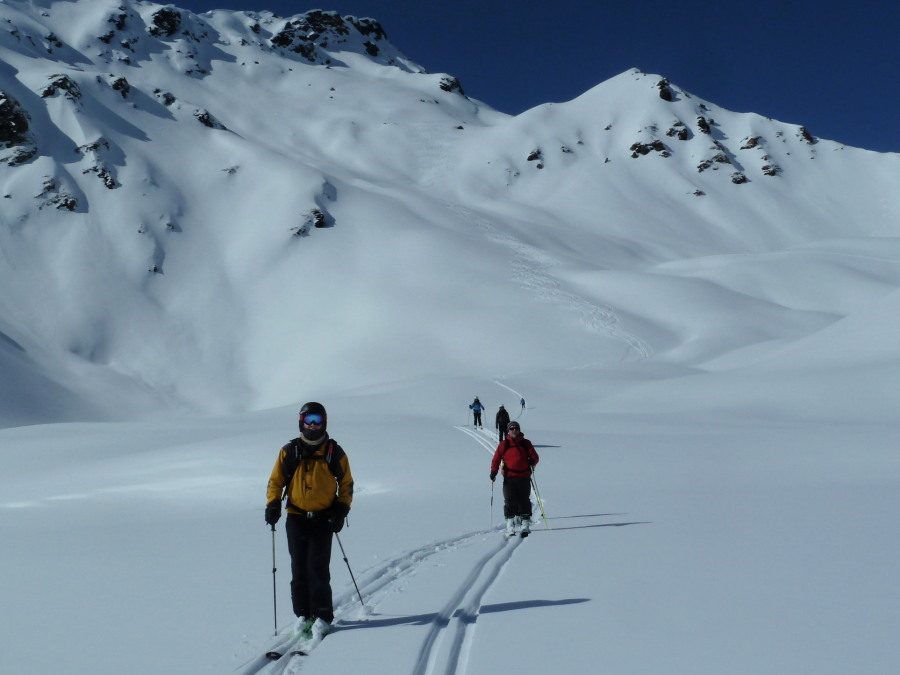 British Mountain Guide ski touring Grimentz