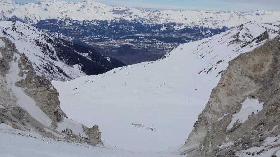 Col du Tsan grimentz zinal off piste ski touring guide mountain