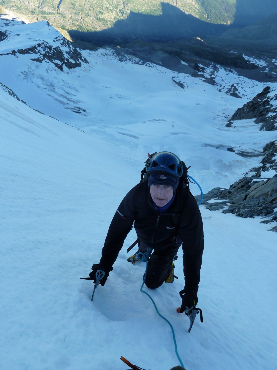 Climbing The Gran Paradiso North Face
