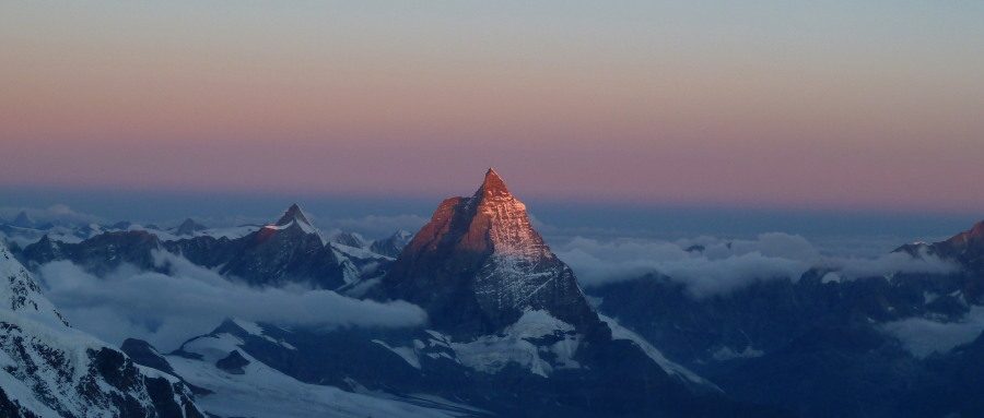 Matterhorn from Monte Rosa British mountain guide