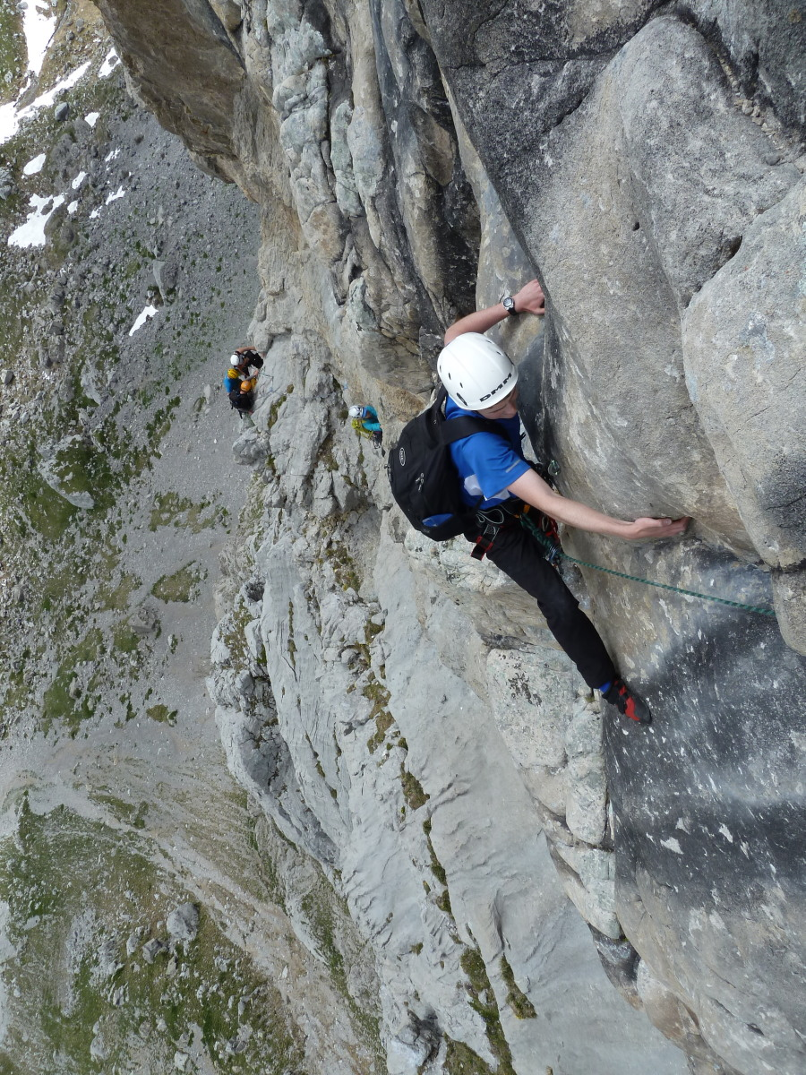Sanetsch rock climbing