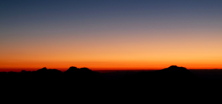 Dawn over the Lagginhorn and Weissmies