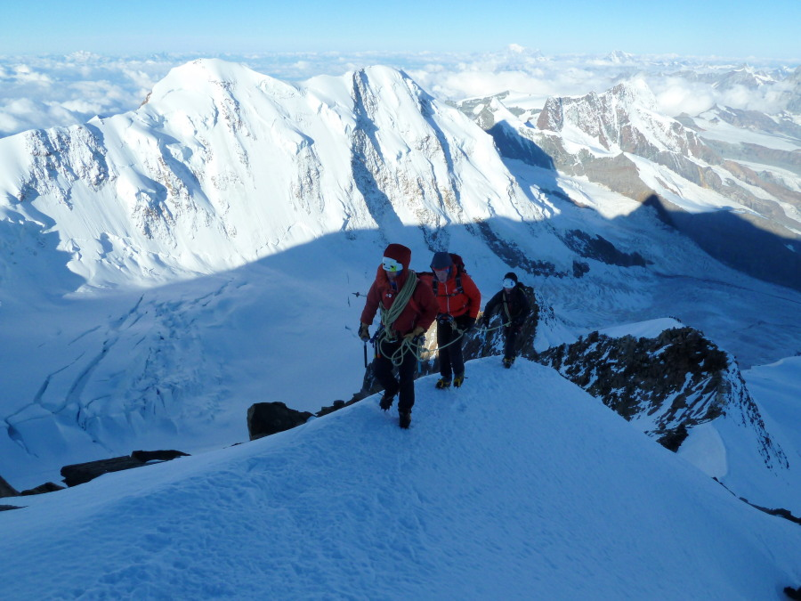 British Mountain Guide climbing Monte Rosa