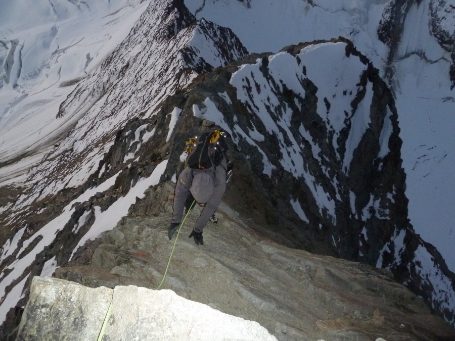 Climbing the Taschhorn with Frost Guiding