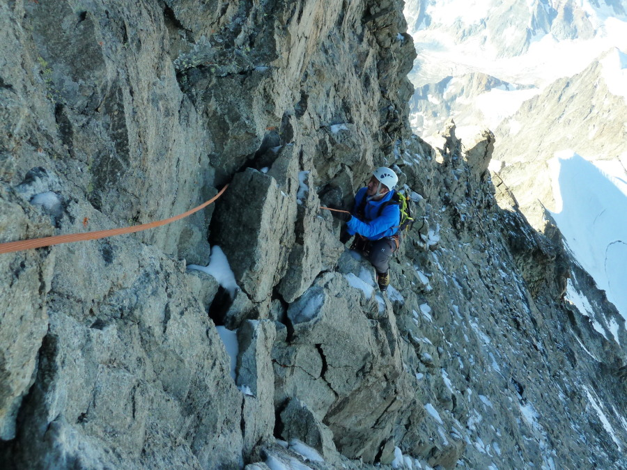 Guided ascent of Dent Blanche, Arolla