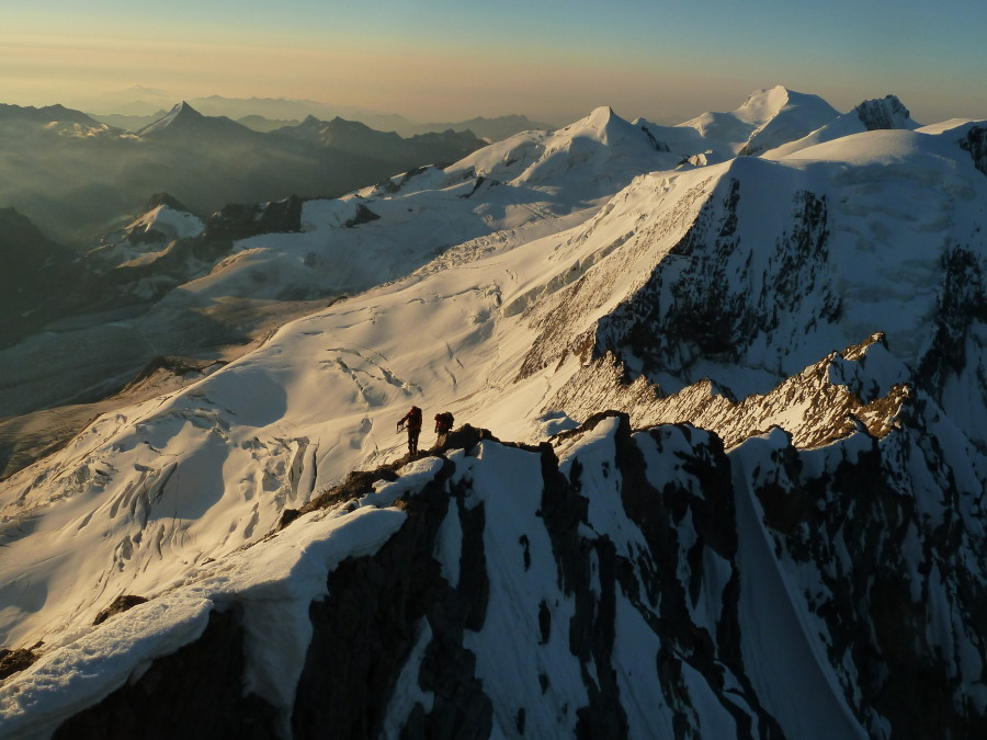 Climbers on Taschhorn British Mountain Guide