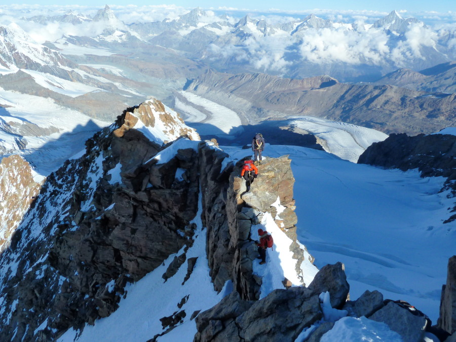 Monte Rosa summit ridge
