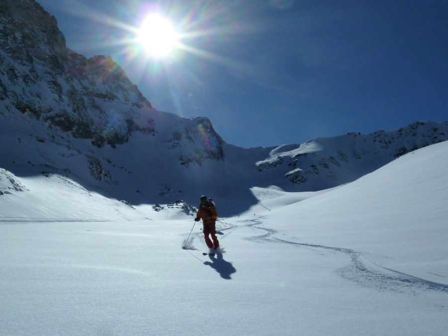 Evolene day tours ski guide Graham Frost