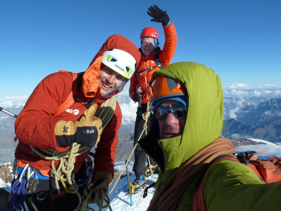 Mountain Guides on Monte Rosa summit