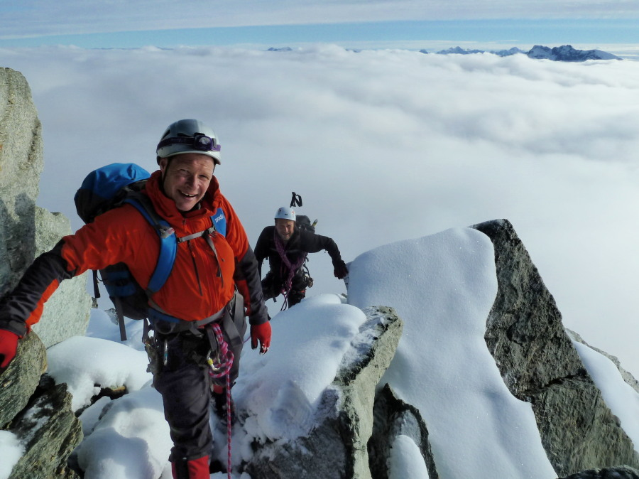 Day 2, on the snowy Pointes de Mourtis-Dent des Rosses traverse