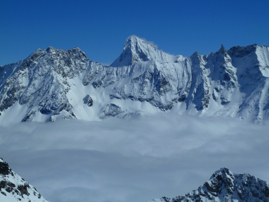 Fine views of the Perroc, Dent Blanche, Tsalion and Tsa