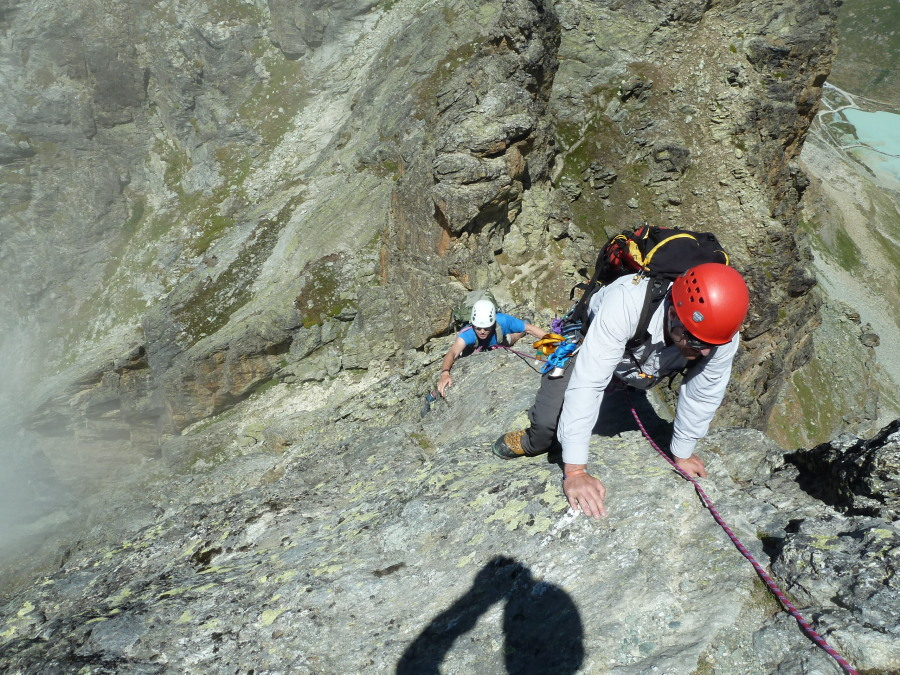 Guided climbing in the alps