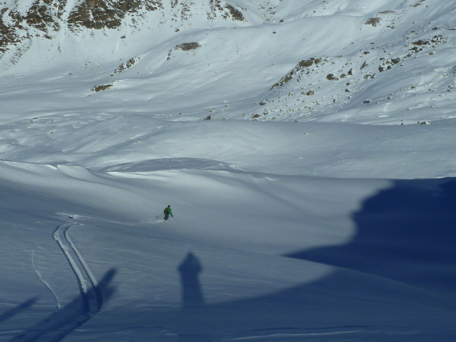 Big turns on the way to the Weishorn hotel!