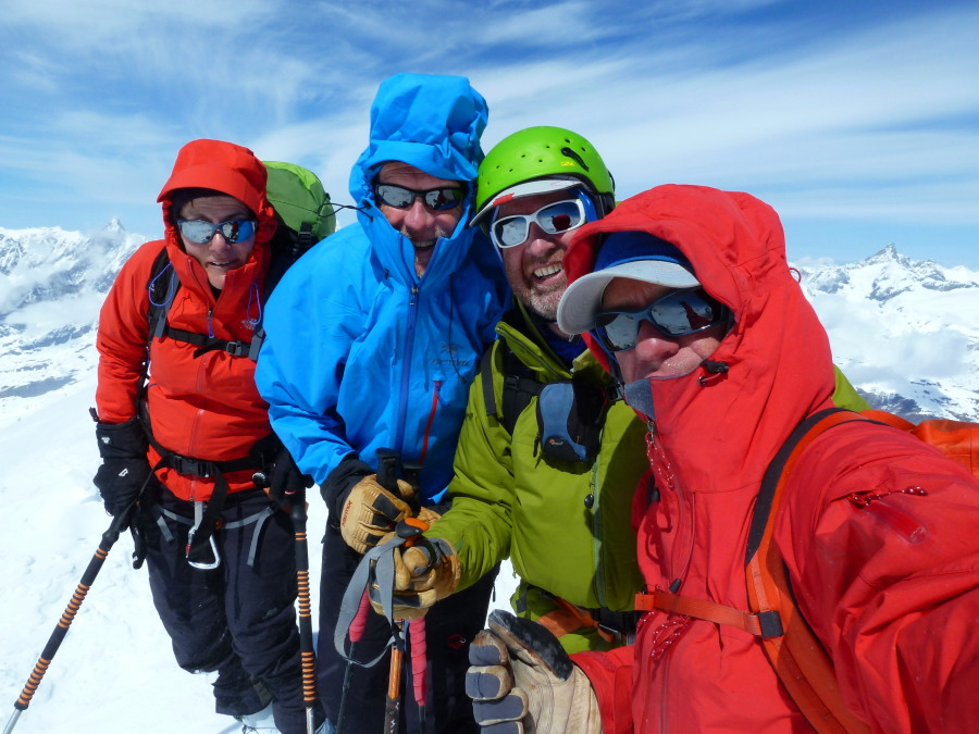 Chilly team on the summit!