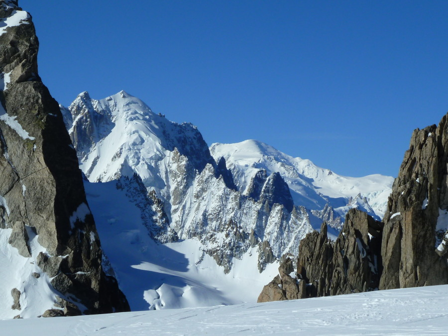 Aiguille Verte and Mont Blanc from the Aiguille du Tour