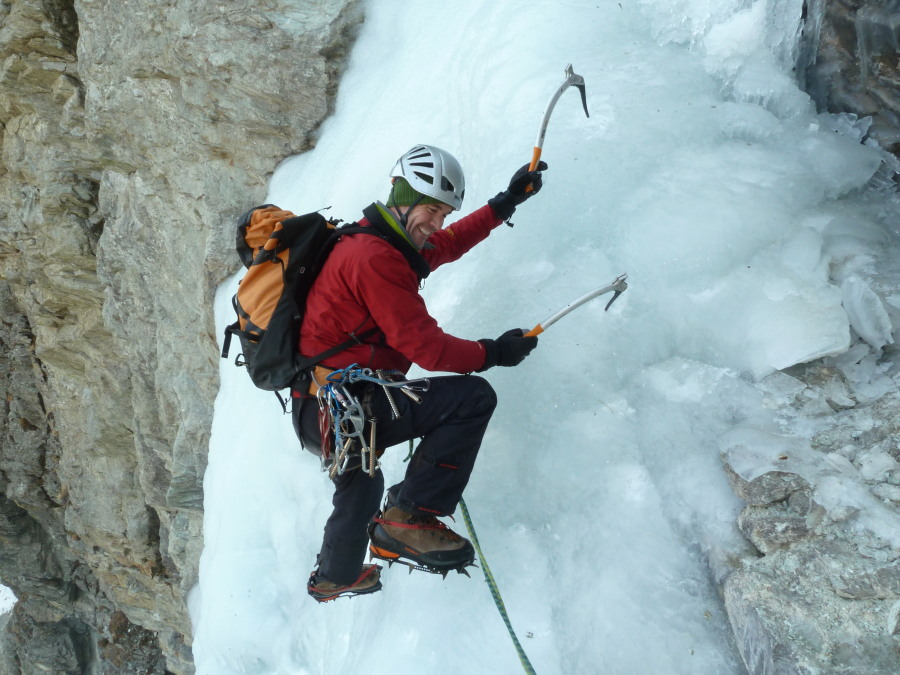 Alps Learn to Ice Climb British Mountain Guide