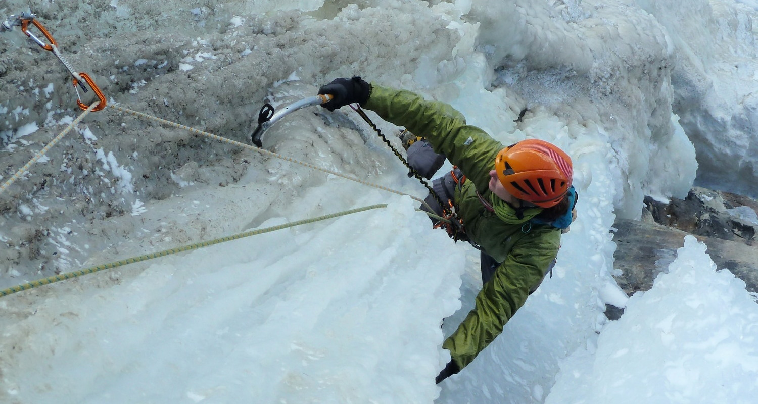 Intermediate Ice Climbing Cogne IFMGA Guide