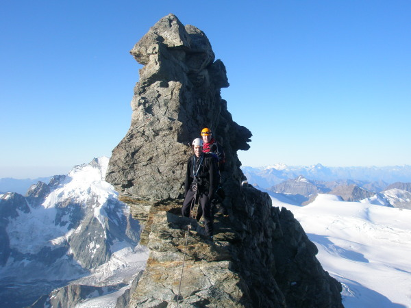 The Grand Gendarme on the Dent Blanche South Ridge