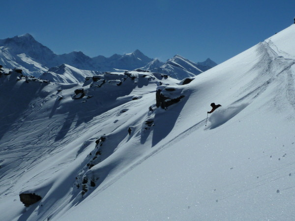 50m from the piste, but fresh tracks...