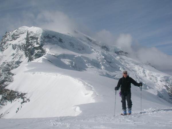 Near the top of the Tournelon Blanc, Grand Combin behind