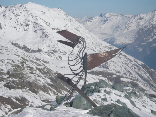 Funky sculpture on the glacier
