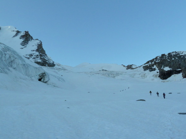 Early morning on the glacier