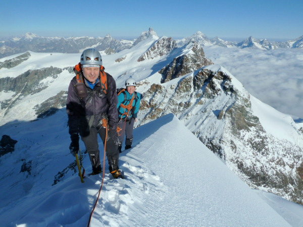 On the Castor summit ridge