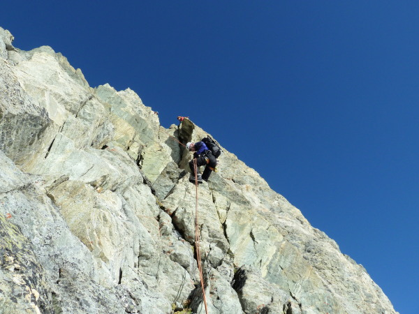 Abseil off the Pointe de Mourti