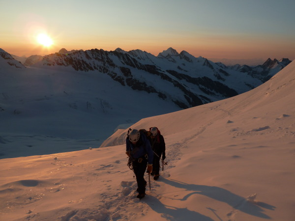 Crack of dawn on the Jungfrau