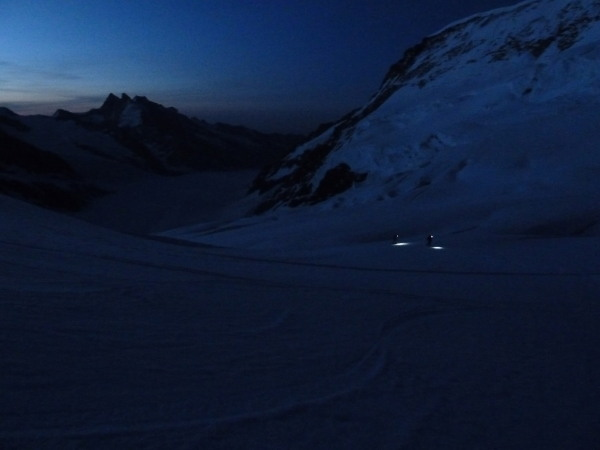 Early morning on the Jungfrau