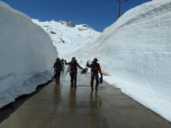 Plenty of snow at the Gotthard pass