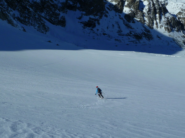 Good skiing on the glacier