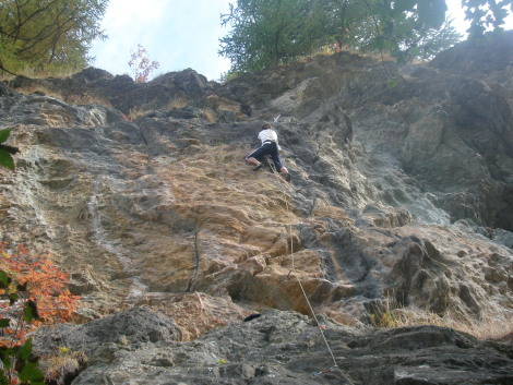 Climbing at Vogler
