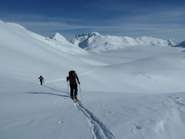 Leaving the Glacier de la Plaine Morte