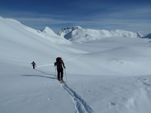 Leaving the Glacier de la Plaine Morte
