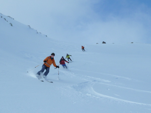 Powder below the Brinta