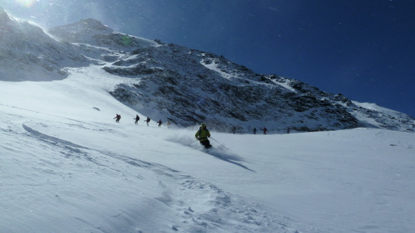 Powder below the Grand Col, les Arcs