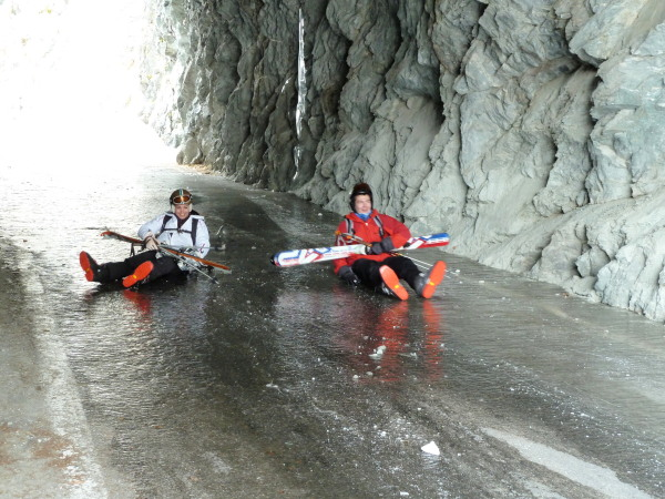 New sport in the Moiry tunnel