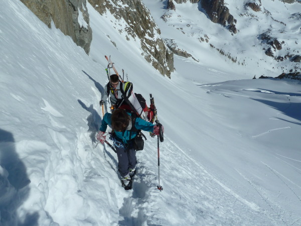 The final steep ascent
