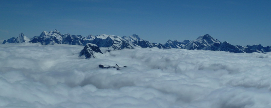 The Oberland seen fro the Balmhorn.
