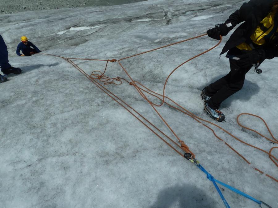 6:1 crevasse rescue haul