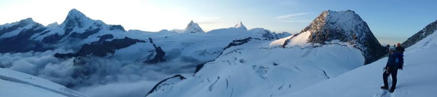 Dent Blanche Matterhorn Dent d'Hérens Alps Mountaineering