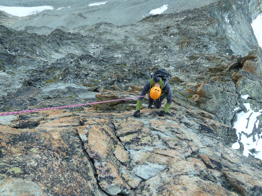 Fine climbing on good, red rock on Besso